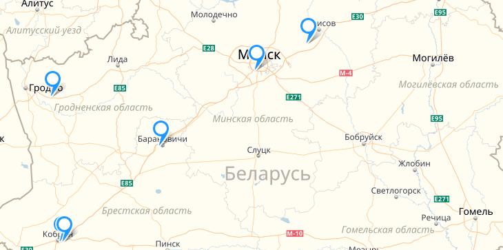 Адреса ООО «БелАвтоприцеп»